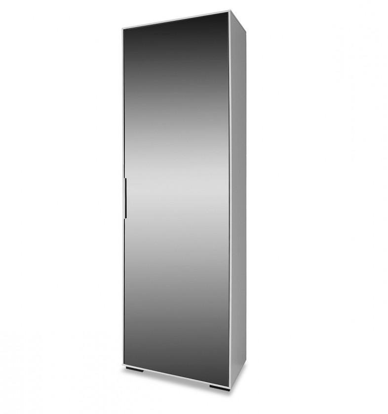 Skriňa Rhein - Skriňa so zrkadlom, 1x dvere (biela)