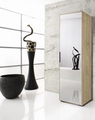 Skriňa Rhein - Skriňa so zrkadlom, 1x dvere (dub)