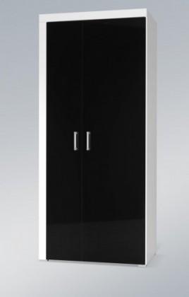 Skriňa Samba (regal 1) biela/ čierna