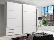 Skriňa Seattle - 225/208/64 cm, posuvné dvere (biela)