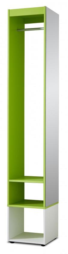 Skriňa Sonia - šatníková skriňa (biela/zelená)