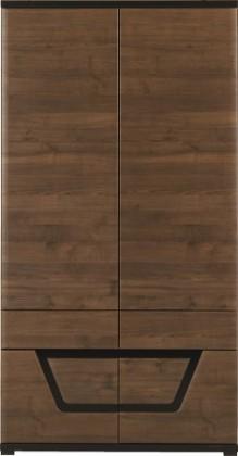 Skriňa Tes - Skriňa , 2x dvere (ořech, korpus a fronty)
