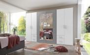 Skriňa Verdena - 313/210/58 cm, klasické dvere (světlý beton)