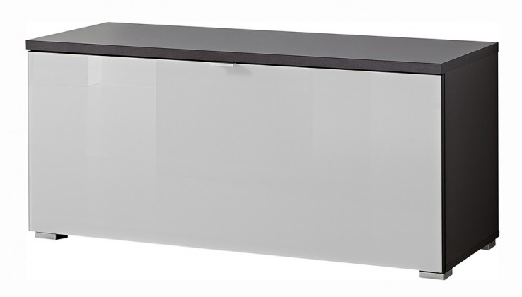Skrinka na topánky GW-Alameda - Botník,1x výklopné dvere (antracit/biela)