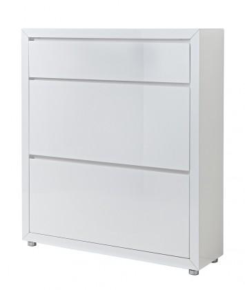 Skrinka na topánky GW-Fino - Botník,2x výklopné dvere,1x šuplík (biela)