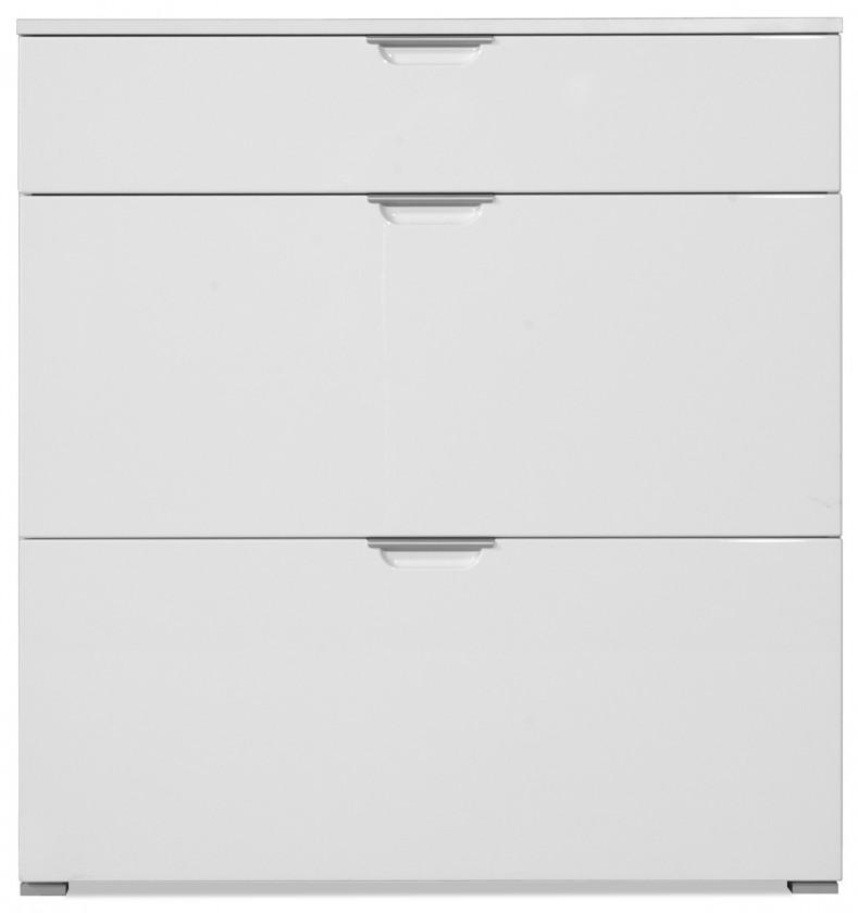 Skrinka na topánky GW-Gala - Botník, 1x zásuvka, 2x výklopné dvere (biela)