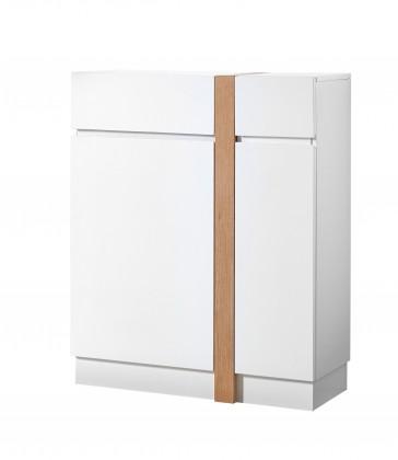 Skrinka na topánky GW-Loft - Botník,2x dvere,1x šuplík (biela)