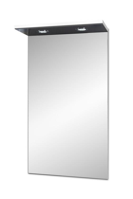 Skrinka nad umyvadlo Brisbane - zrkadlová skriňa, s LED osvetlením (biela)