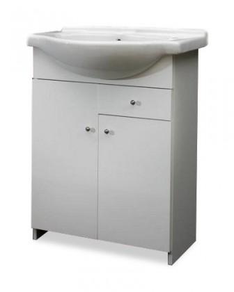 Skrinka SU 06 s umývadlom 55cm (biela, vysoký lesk)