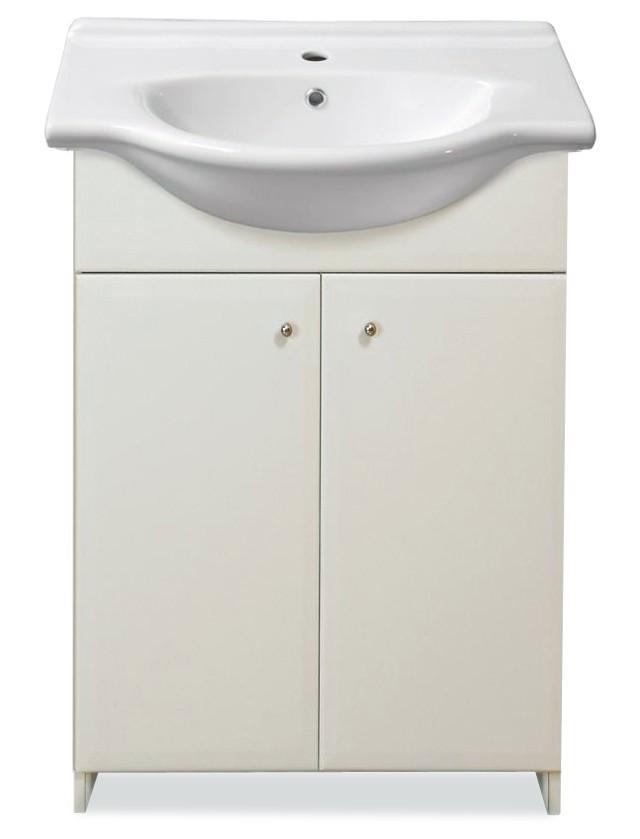Skrinka SU 20 s umývadlom 50cm (biela, vysoký lesk)