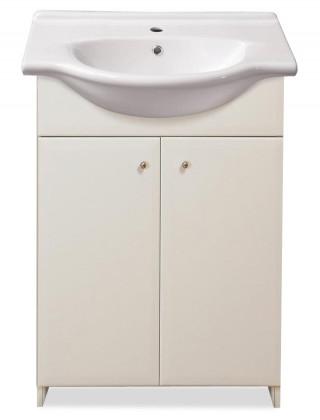 Skrinka SU 25 s umývadlom 55cm (biela, vysoký lesk)