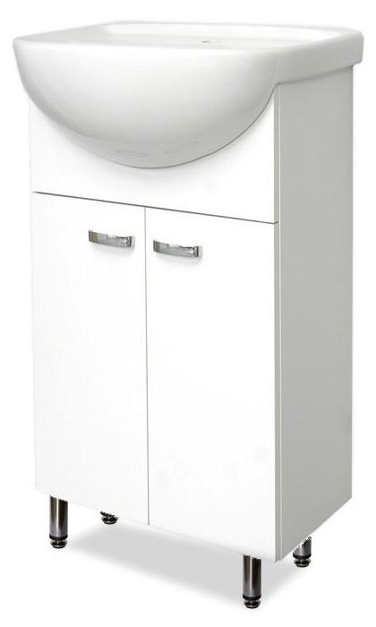 Skrinka SU 30 s umývadlom JIKA 55cm (biela, vysoký lesk)