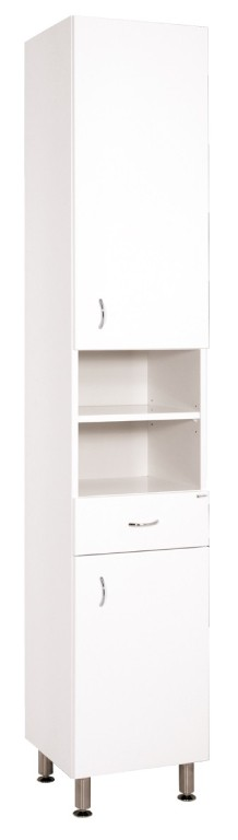 Skrinky do kúpeľne Kúpeľňová skrinka Cara Mia (35x192x33,3 cm, biela, lesk)