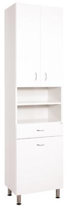 Skrinky do kúpeľne Kúpeľňová skrinka Cara Mia (50x192x33,3 cm, biela, lesk)