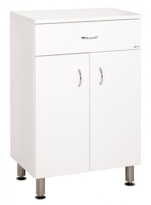 Skrinky do kúpeľne Kúpeľňová skrinka Cara Mia (50x79x33,3 cm, biela, lesk)