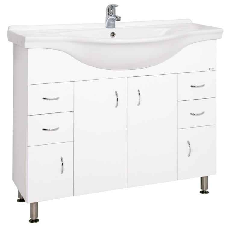 Skrinky s umývadlom Kúpeľňová skrinka s umývadlom Cara Mia (102x85x55cm, biela,lesk)