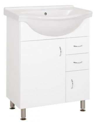Skrinky s umývadlom Kúpeľňová skrinka s umývadlom Cara Mia 65,8x85x51,4cm,biela,lesk