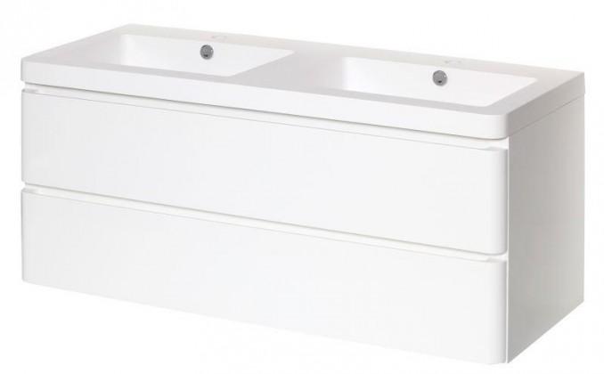 Skrinky s umývadlom Kúpeľňová skrinka s umývadlom Praya závesná 120x53x48,biela,lesk