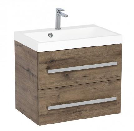 Skrinky s umývadlom Kúpeľňová skrinka s umývadlom Tiera závesná (60x53x40 cm, dub)