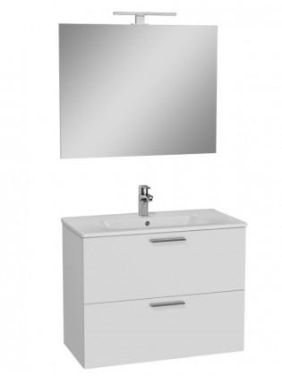 Skrinky s umývadlom Kúpeľňová zostava Moira (79x61x39,5 cm, biela)