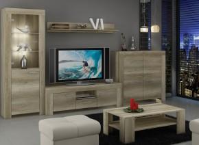 Sky - Obývacia stena, komoda, RTV stolík, stolík (country sivá)