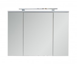 Sky - Skrinka nad umývadlo so zrkadlom (biela)