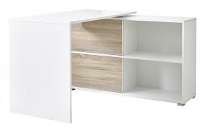 Slide - stôl so skrinkou (biela/dub sonoma)