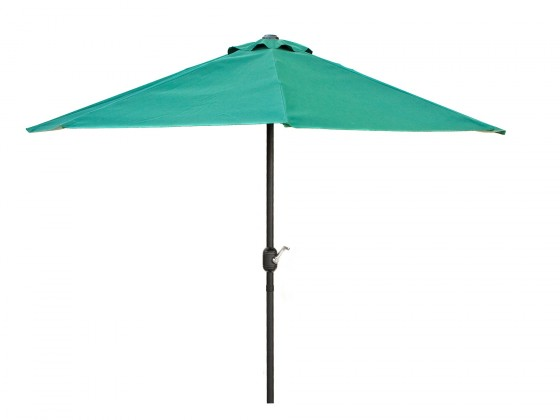 Slnečník Půlkruhový slnečník 270x135 cm (zelená)