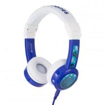 Slúchadlá cez hlavu BuddyPhones Inflight, modré