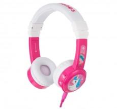 Slúchadlá cez hlavu BuddyPhones Inflight, ružové