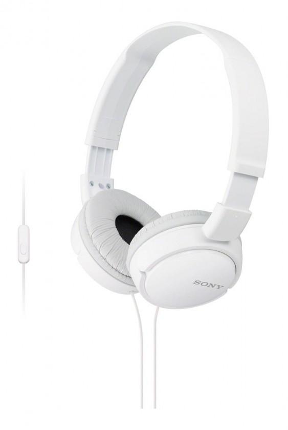 Slúchadlá cez hlavu Slúchadlá cez hlavu Sony MDR-ZX110APW, biele