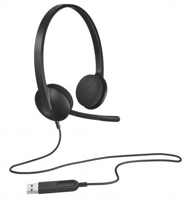 Slúchadlá cez hlavu Slúchadlá s mikrofónom Logitech Corded H340 (981-000475)