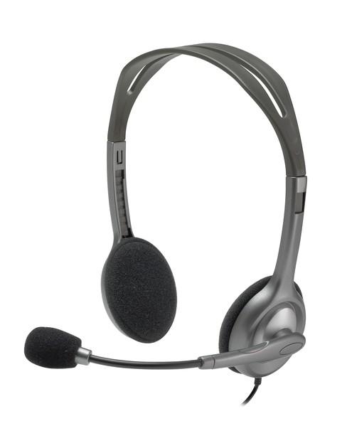 Slúchadlá cez hlavu Slúchadlá s mikrofónom Logitech Stereo H111 (981-000593)