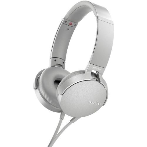 Slúchadlá cez hlavu Sony MDR-XB550APW, biele