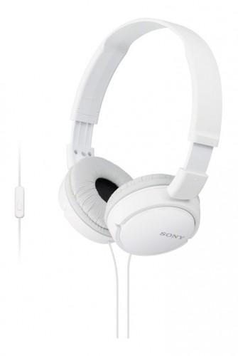 Slúchadlá cez hlavu Sony MDR-ZX110APW, biele