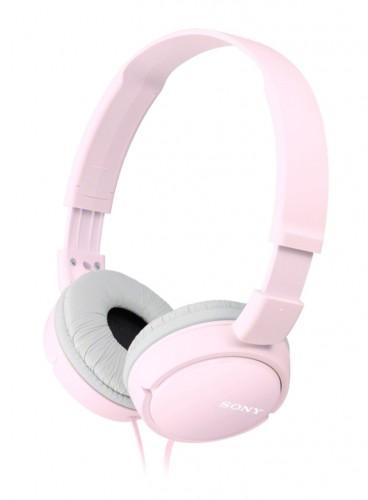 Slúchadlá cez hlavu Sony MDR-ZX110P, ružové