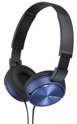 Slúchadlá cez hlavu Sony MDR-ZX310L, modré