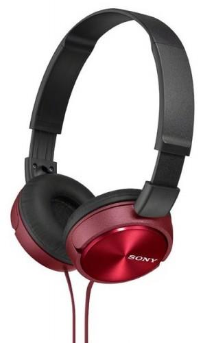 Slúchadlá cez hlavu Sony MDR-ZX310R, červené
