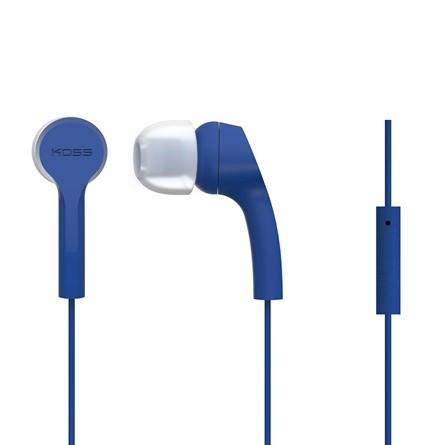 Slúchadlá do uší Koss KEB9iB, modré