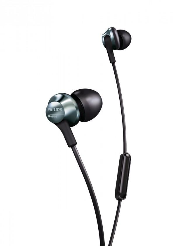 Slúchadlá do uší Slúchadlá Philips PRO6105BK, čierna