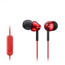 Slúchadlá do uší Sony MDR-EX110AP, červené