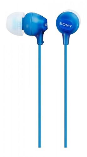 Slúchadlá do uší Sony MDR-EX15AP, modré