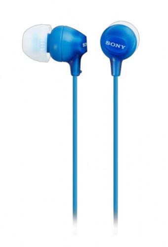 Slúchadlá do uší Sony MDR-EX15LP, modré