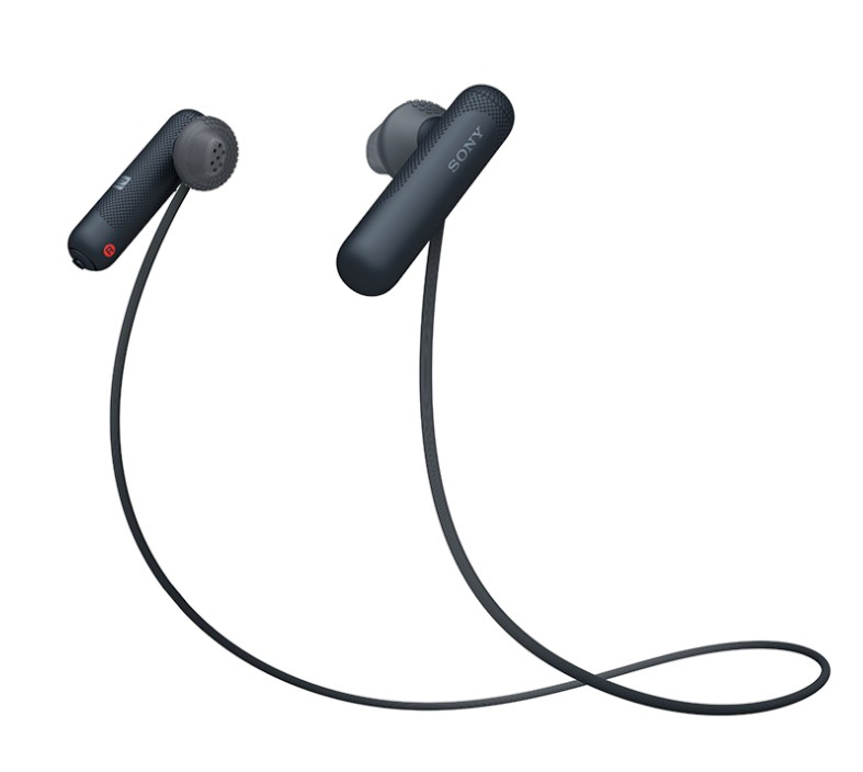 Slúchadlá do uší Športové bezdrôtové slúchadlá Sony WI-SP500B, čierna