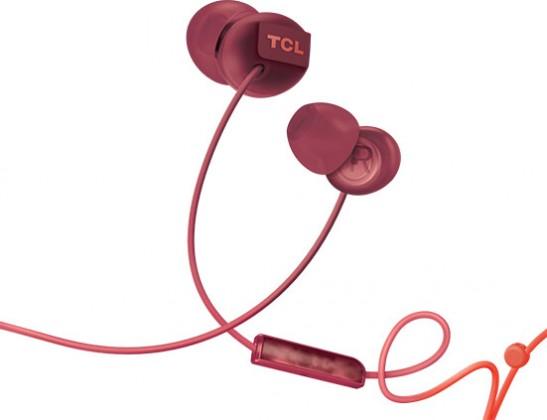Slúchadlá do uší TCL slúchadlá do uší, drôtové, mikrofó, oranžová