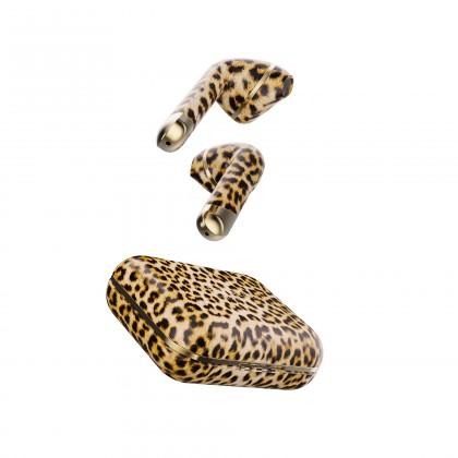 Slúchadlá s mikrofónom Happy Plugs Air1 Leopard