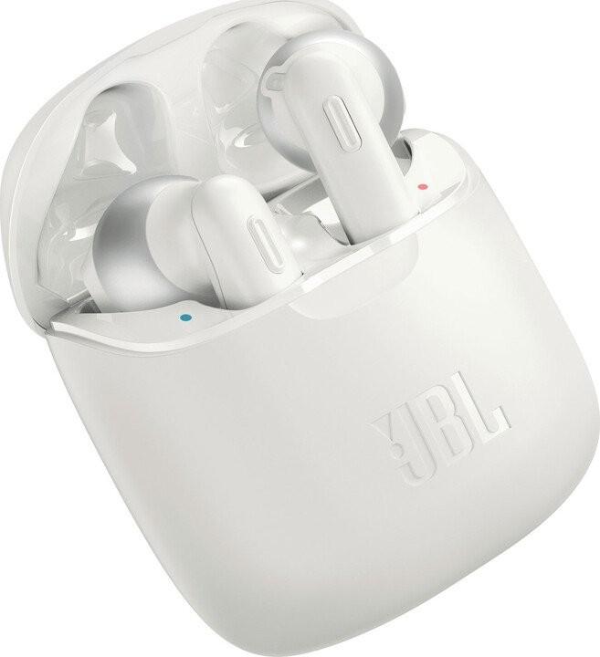 Slúchadlá s mikrofónom JBL TUNE 220TWS, biela