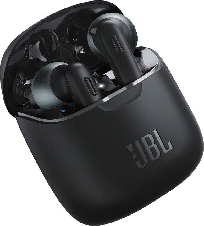 Slúchadlá s mikrofónom JBL TUNE 220TWS, čierna