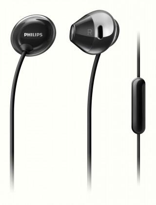 Slúchadlá s mikrofónom Slúchadlá Philips SHE4205BK, čierna