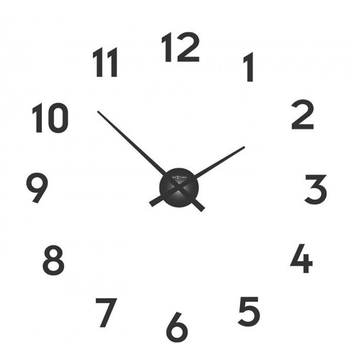 Small hands - hodiny, nástenné, guľaté (kov, čierne)